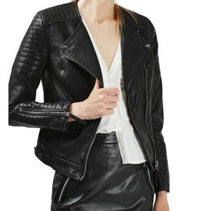 Top Shop Faux Leather Jacket